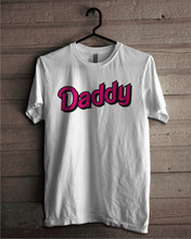 Daddy T Shirt, Little Girl DDLG Kylie Jenner T-shirt Pink Neon Text, Unisex Tee Shirt 100% Cotton Tumblr Outfit Back to School