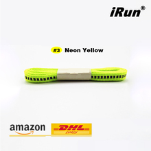 3M Neon Yellow Shoe Laces For Kid Disabled Men Women - Safety Shoelaces Design for Athletic Run Triathlete Train Half Marathon(China)