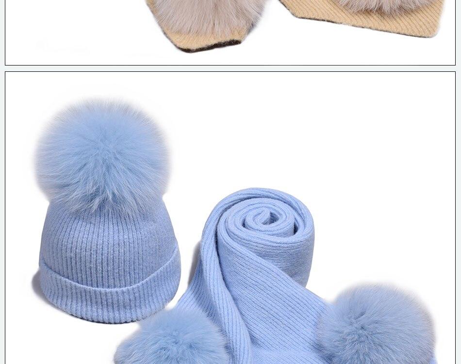 قبعة ووشاح للفتيات 14