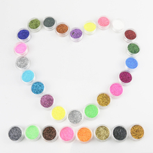 30 Pcs Nail Glitter Assorted Colors Nail Art Fine Glitters Powder Dust UV Gel Polish Acrylic Nail Tips Makeup Tools(China)