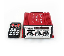Red MA-600 20W+20W mini Car Amplifier USB SD DVD CD FM MP3 Digital LED display Motorcycle new arrival