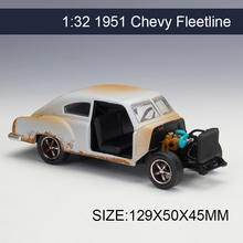 1:32 Diecast Model Car 1951 Chevy Fleetline Vehicle Play Collectible Models Sport Cars toys For FAST AND FURIOUS(China)