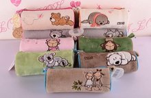 candice guo! NICI plush animal cute cylinder Pencil bag cartoon lover sheep bear koala sea lion Cosmetic bag 1pc(China)