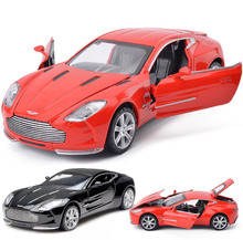New 1:32 Scale Aston Martin Metal Alloy Diecast Car Model Miniature Model With Sound Light Electric Car Toys For Children Gifts(China)