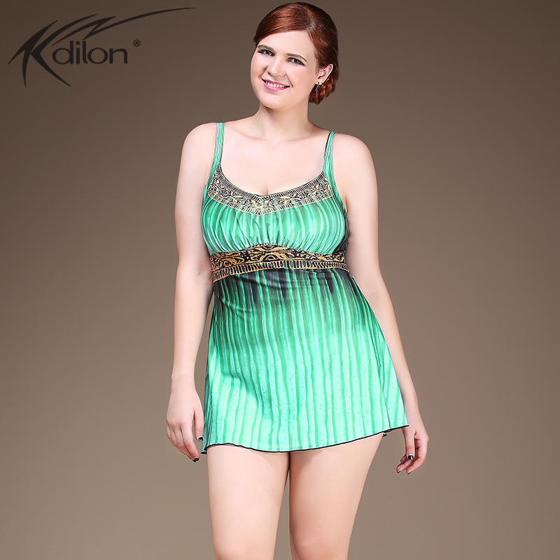 Gradient Summer Women One Piece Swimsuits Beach Wear Green Red Push Up High Waisted Bathing Suits Plus Size Swimwear Swim Dress<br>