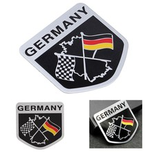 3D Metal Aluminium Car Emblem Germany German Flag Emblem Grille Badge Decal Sticker Racing Motorsports For BMW /VW /Benz