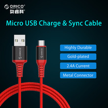 ORICO Micro USB Cable Support 3A Current Charging Cord Sync Cable for Smart Phone Tablet Kevlar Material for Xiaomi Samsung HTC(China)
