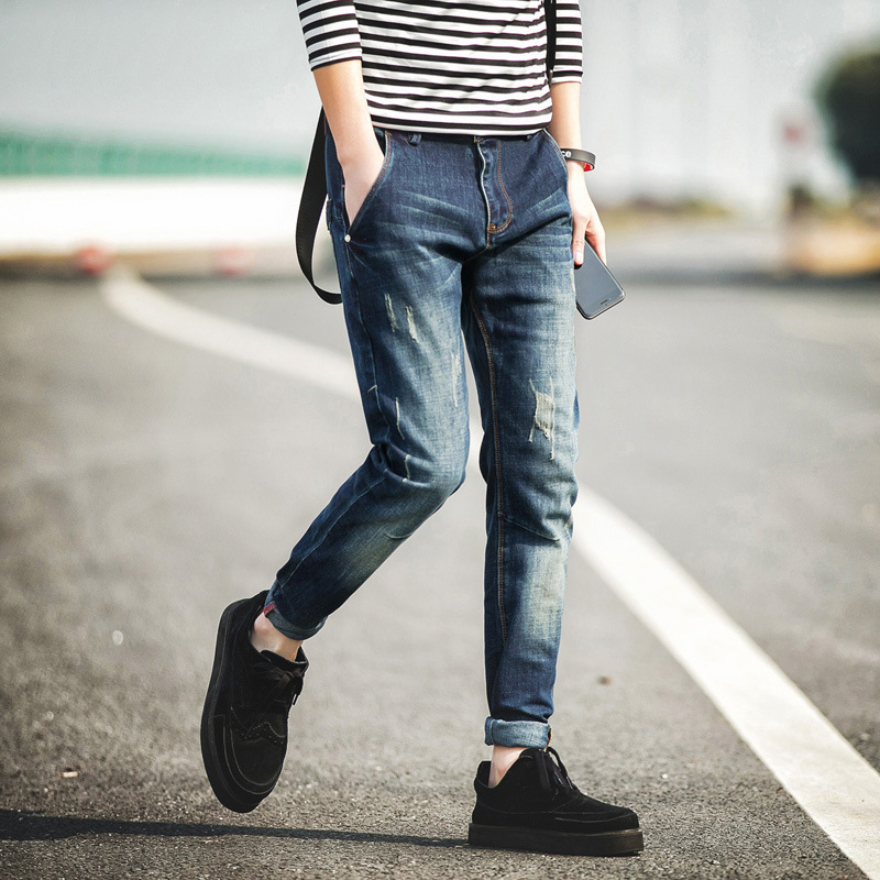 2017 New Summer Mens Ripped Jeans Famous Brand Skinny Jeans Men Oversized Male Denim Jumpsuit Pants Brand-clothing Hot SaleОдежда и ак�е��уары<br><br><br>Aliexpress