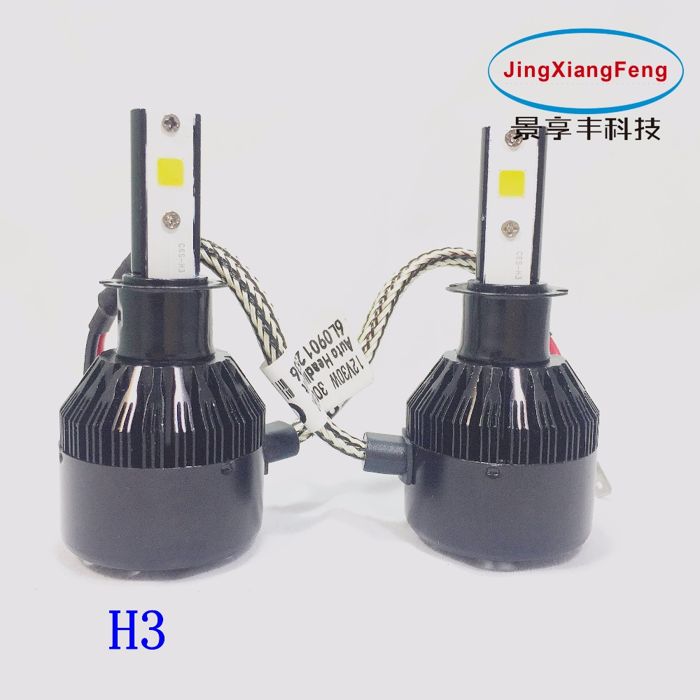 JingXiangFeng 2pcs Arrival Super Bright Car Light Plug Play 12V30W 3200LM Auto Headlight H8 H9 H11 LED headlights Accessories<br>