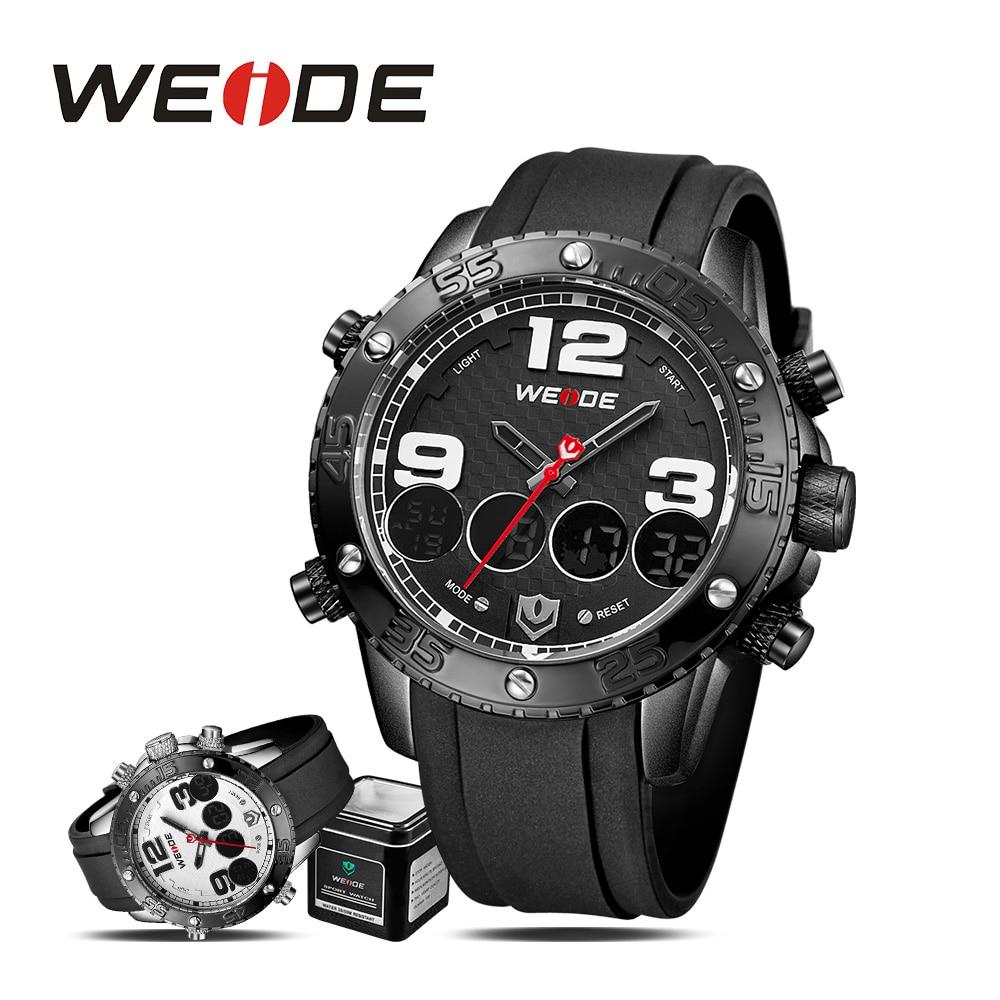WEIDE sport electronic wrist men watch quartz date digital led silicon clock army waterproof  men watches 2017 luxury brand<br>