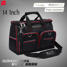 "YZL 14"" Tool Bags 600D Close Top Wide Mouth Electrical Bags Multifunction Tool Bags With Parts Box(China)"