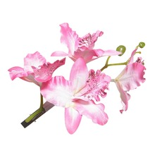 1PC Elegant Hawaiian Beach Orchid Flower Hair Clip Hairpin Bridal Wedding Prom Headdress(China)