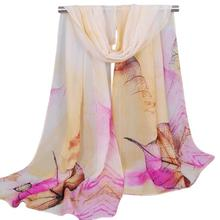 Silk Scarf Hot 2017 LKF Fashion High Quality Women Scarf New Lady Women's Long Soft Wrap Lady Shawl Silk Chiffon Scarves  Y8043