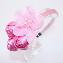 Personality Cute Flower Rose Baby Girls Headbands Hair Hoop Beautiful  Solid Color Children Hair Accessories