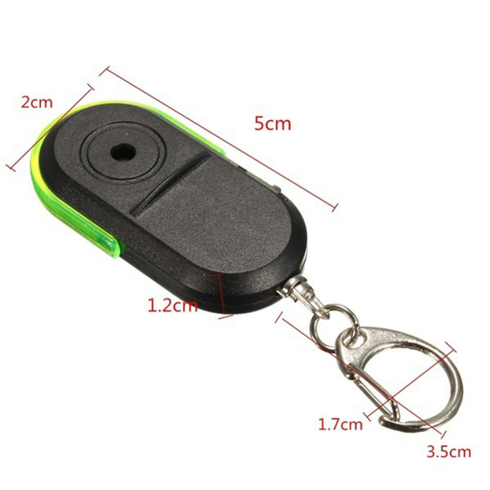 Sifflet cl/é Finder CL/É DE RECHERCHE alarme anti-perte sans fil Key Finder Keychain contr/ôle du son de sifflet avec batterie