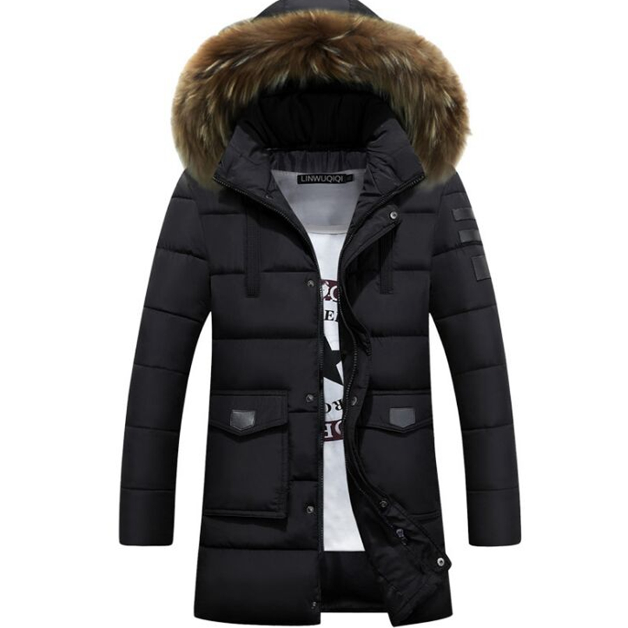 tee tops Winter Jacket Men Coats Thick Warm Casual Collar  Winter Windproof Hooded Outwear Men Outwear many Одежда и ак�е��уары<br><br><br>Aliexpress