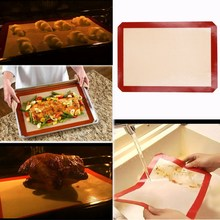 Baking Mat Non-Stick Silicone Baking Pad For Cake Cookie Macaron Oil Proof Baking Liner(China)