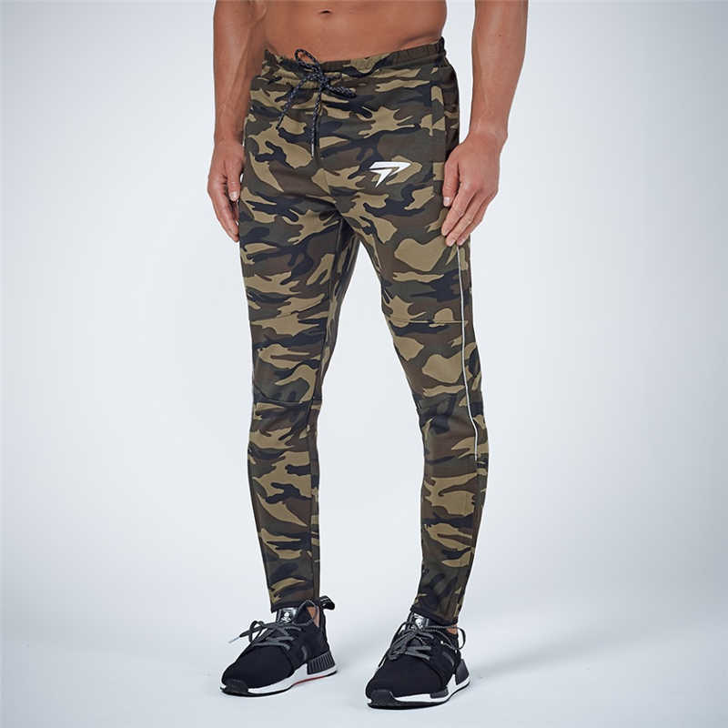 GYMOHYEAH NEW pants Men's High quality workout bodybuilding clothing casual camouflage sweatpants joggers pants skinny trousers 18