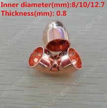 90 Degree Elbow Red Copper Fitting for cooling and heating system 8*0.8mm