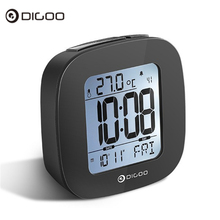 Digoo Digital Snooze LCD Alarm Clock Backlight Temperature Thermometer TIME DATE Alarm Snooze Function Calendar Weather Station