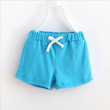 1Pc Summer Kids Soft Cotton Boys Girls Short Trousers Children's Shorts Casual Candy Color Baby Pants Shorts for Girls Boys 2017