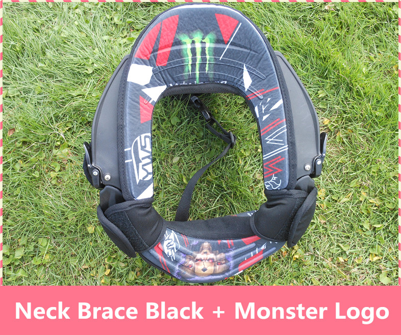 Motorcycle Neck Brace suspenders light weight full strong protector Motocross motorbike riding neck guard black + monster Logo<br><br>Aliexpress