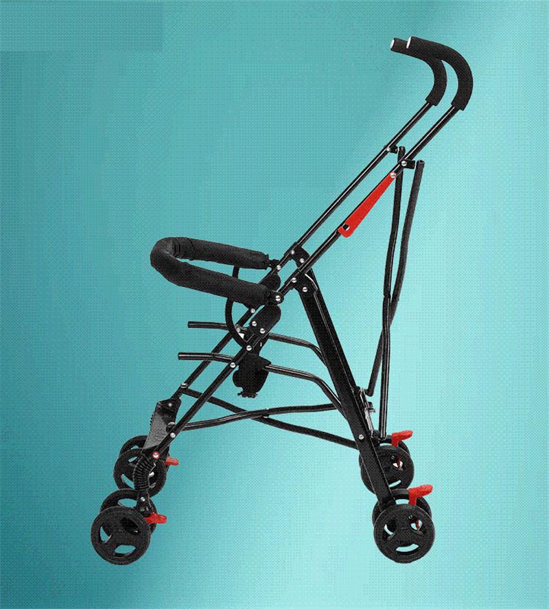 Newborn Baby Car Seat Stroller Carts Light Folding Portable With Children\'s Car Safety Seat Basket Steel Highland Baby Car Frame04