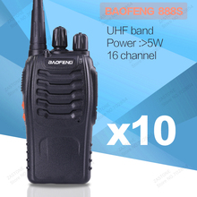 10 pcs/lot Baofeng 888S Max 5W Ham Radio 16 Channel UHF 400-470NHZ Handheld Two way Radio 888S walkie talkie radio transceiver