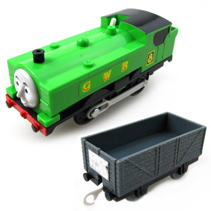 T0176 Duck Electric Thomas and friend Trackmaster engine Motorized train with Compartments Chinldren child kids plastic toys<br>