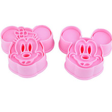 2pcs Mickey Minny Mouse Fondant Cake Cookie Biscuit Cutter Mold Mould Tools Set D797