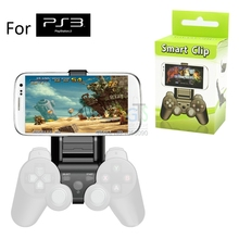 SmartPhone Clamp Mount Adjustable Bracket for Sony Playstation 3 PS3 Game joypad Controller iphone Samsung Android Clip Holder