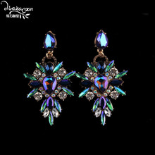 Dvacaman Brand 2016 Popular In Facebook Starburst Statement Earrings Colorful Crystal Drop Earrings Women Punk Maxi Jewelry Q58(China)