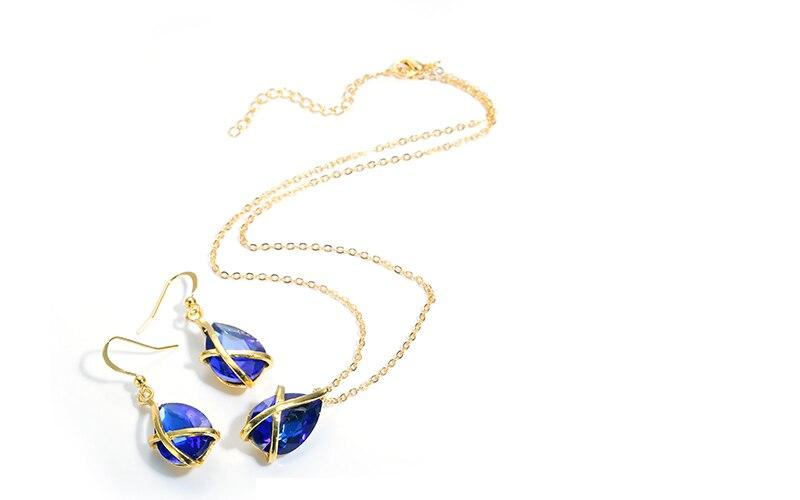 AYAYOO Jewelry Sets Turkish Gold Color African Beads Jewelry Set For Women Imitation Crystal Cheap Wedding Dubai Jewelry Sets (2)