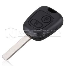 2 Button Remote Car Key Case Shell For Peugeot 107 207 307 407 106 206 306 406 without Groove Key Free Shipping D05(China)