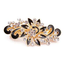2017 Hot Sale Fashion Women Hairpins Colorful Shinning Rhinestones Flower Hairpin Hair Clip Jewelry hair accessories(China)