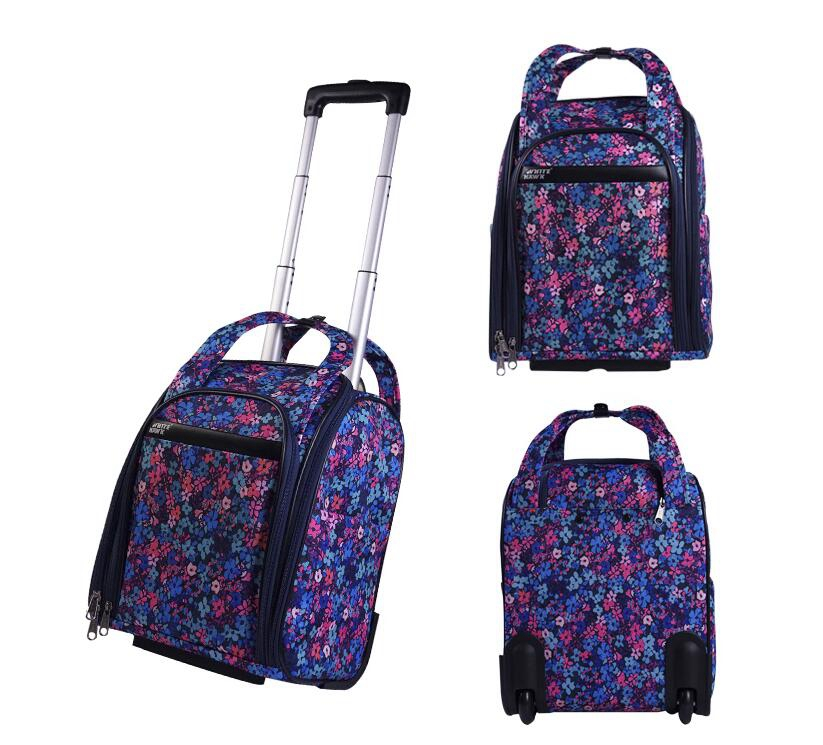Women Travel Luggage Bag wheels Cabin travel Bag rolling luggage bag Trolley Suitcase wheeled Bags for women Travel Tote Duffles