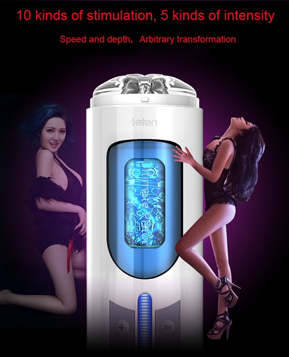 Leten A380 Automatic Male Masturbator 10 Kinds Modes High speed Piston Artificial Vagina Cunt Voice Interaction Sex Toys for Men 12
