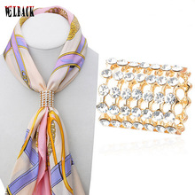 Fashion accessories airline stewardess scarf buckle high quality crystal simple scarf buckle for women