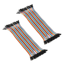 Electrical Durable Cables 40pcs 20cm 2.54mm 1p-1p Pin Female to Female Color Breadboard Cable Jump Wire Jumper For Arduino2.48(China)