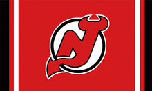 New Jersey Devils custom flag 3ftx5ft polyester white sleeve with 2 Metal Grommets 3ft x 5ft