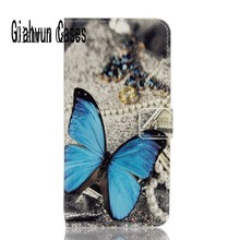 Phone Cases For Sony Xperia T3 M50w Jelly Butterfly Sakura UK USA Flag Luxury Leather Mobile Phone Cases capa para Case Cover(China)