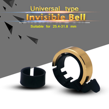 Invisible Bicycle Bell MTB Mountain Road Bike Bell Alloy Mini Cycling Handlebar Ring Bells Safe Alarm Horn (24.00mm/31.8mm)
