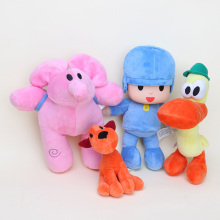 4pcs/lot Super Cute Pocoyo Stuffed Cartoon Plush Toys Pocoyo&Elly&Loula&Pato Elephant Dog Prelude for Baby Kids
