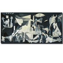 Spain France Picasso Guernica 1937 Germany Figure Canvas Painting Abstract drawing Spray Oil Painting Frameless Home decor