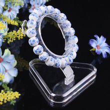 10pcs/lot Wholesale Clear View Plastic Bracelet Display Stand Holder High Quality Transparent Jewelry Display Shelf   H2208