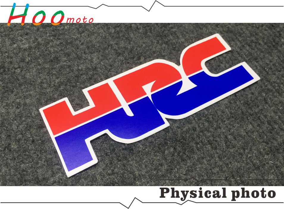 12cm4cm hrc motorcycle sticker and decals a pair hrc diy moto for getsubject aeproduct fandeluxe Image collections
