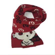 Lovely Wuba Cartoon Scarf For Children Letters Print Acrylic Woolen Knitted Neck Wrap Shawls Pashmina High Quality Size 140*26cm