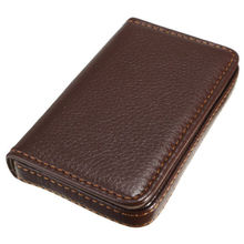 Fashion Leather Business ID Credit Card Holder Case Wallet with Magnetic Shut(China)
