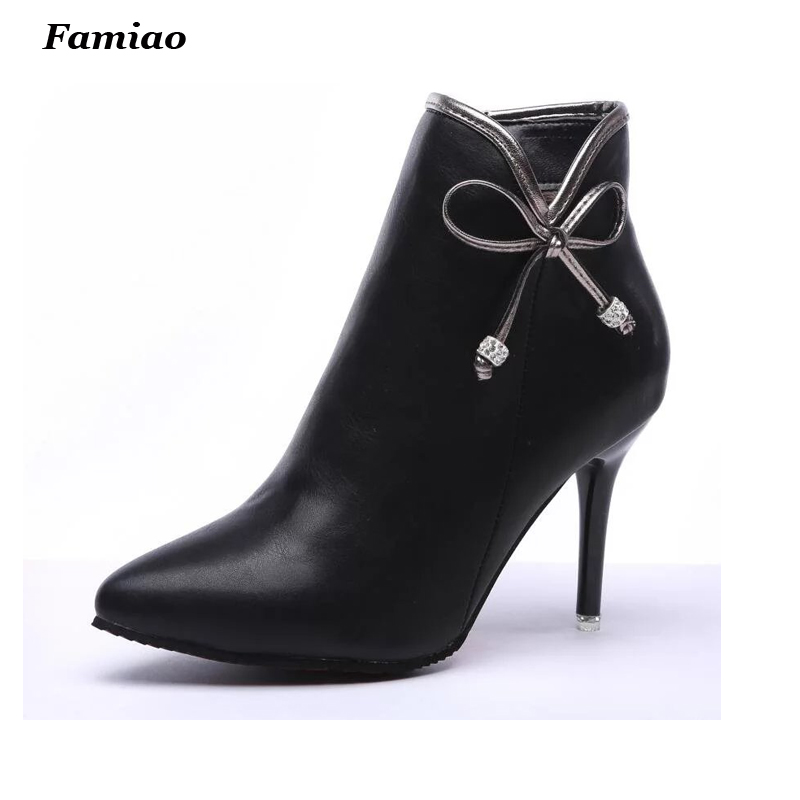botines mujer 2017 women ankle boots winter warm women lady fashion sexy short boot high heel shoes<br><br>Aliexpress