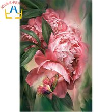 Square drill diamond embroidery canvas painting diy 5d diamond mosaic rhinestones picture needlework decor flowers craft AB309(China)